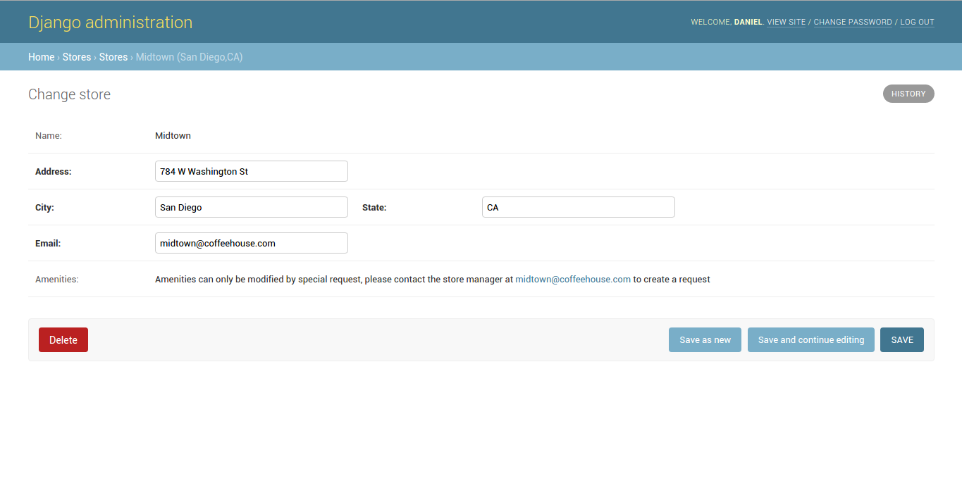 Django admin readonly_fields option for Django admin forms
