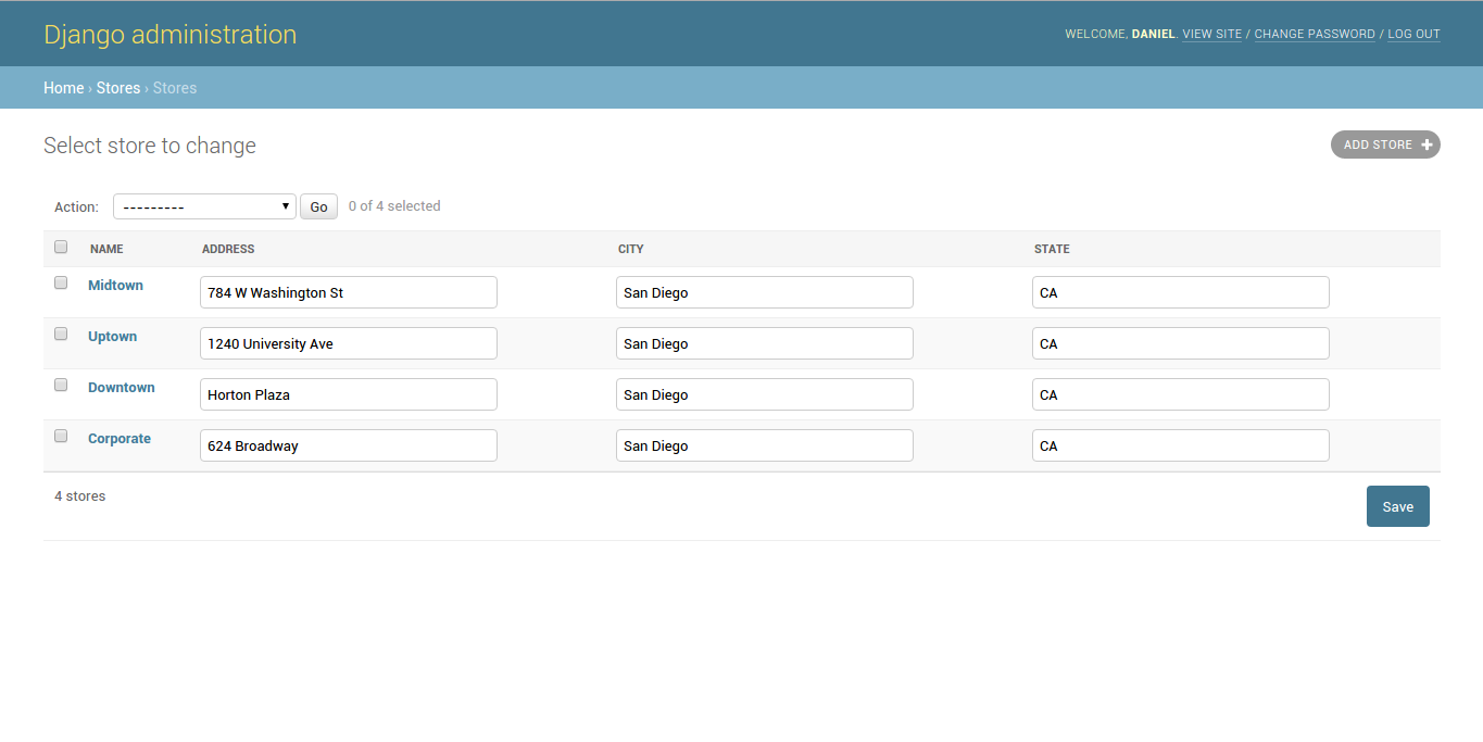 Django admin editable fields due to list_editable